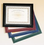 Leatherette Frame Certificate Holder Baseball Award Trophies