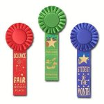 Scholastic Rosette Award Ribbon Baseball Award Trophies