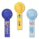 Fun Rosette Award Ribbon Basketball Award Trophies