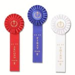 Classic Single Streamer Rosette Award Ribbon Basketball Award Trophies