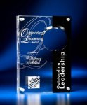 Circle Cutout Clear and Black Acrylic Award Circle Awards