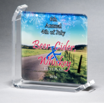 Sublimated Glass Awards Clear Glass Awards