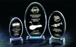 Beveled Oval Acrylic Award Colored Acrylic Awards