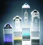 Fluted Pillar Acrylic Award Colored Acrylic Awards