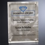 Silver Alloy Plaque Corporate Crystal Awards