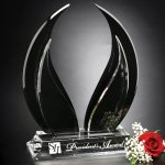 Wings of Peace Crystal Glass Awards