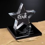 Tapered Star on Base Crystal Glass Awards