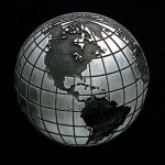 Globe Pewter Accent Globe Awards