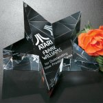 Slanted Star Paperweight Paper Weight Crystal Awards