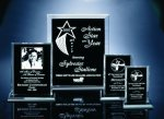 Back Beveled Black Painted Plaque Perspective Acrylic Awards