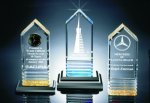 Fluted Bottom Beveled Tower Acrylic Award Presidential Acrylic Awards