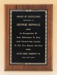 Walnut Plaque with Brass Engraving Plate Recognition Plaques