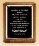 American Walnut Plaque with Antique Bronze Frame Recognition Plaques