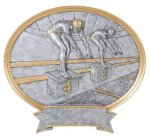Legend Oval Award -Swimming Resin Trophies