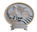 Legend Oval Award -Music Resin Trophies