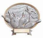 Legend Oval Award -Bowling Resin Trophies