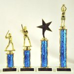 TR B,C,D & E Round Single Column Trophies