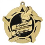 Super Star Medal -Physical Education  Scholastic Trophy Awards