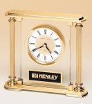 Traditionally Styled Desk Clock Square Rectangle Awards