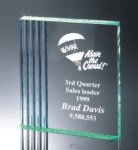 Fluted Side Acrylic Award Square Rectangle Awards
