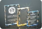 Scalloped Edge Plaque Acrylic Award Square Rectangle Awards