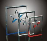 Star Cut-Out Acrylic Award Star Acrylic Awards