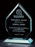 Thick Polished Diamond Acrylic Award Traditional Acrylic Awards - Our Best Sellers