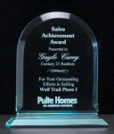 Arch Series Acrylic Award on Acrylic Base. Traditional Acrylic Awards - Our Best Sellers
