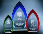 Multi Step Flame Acrylic Award Traditional Acrylic Awards - Our Best Sellers