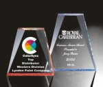 Beveled Wedge Acrylic Award Triangle Awards
