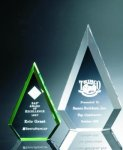 Beveled Peaks Acrylic Award Triangle Awards