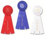 Classic Three Streamer Rosette Award Ribbon Victory Award Trophies
